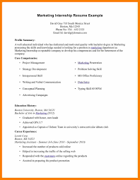 sample resume for marketing assistant resume sample for internship free resume example and writing cv sample for internship 11 jpg