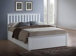 Ottoman White Bed White Ottoman Bed Emporia Freya 5ft Kingsize White Wooden