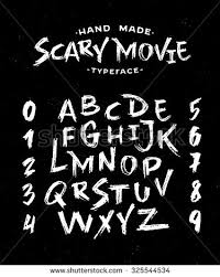 hand made scribble font scary movie stock vector 325544534