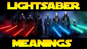 star wars lore lightsaber color meanings youtube