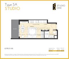 floor plans studio one dubai marina by select group