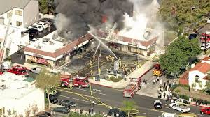 Fire Evacuation Plan For Beauty Salon by Multiple Businesses Burn In Fire At Glendale Strip Mall Ktla