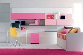 Small White Desk For Kids by Small Rectangle White Desk For Teenager Under Pink Wall Cabinets