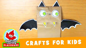 halloween bat craft for kids maple leaf learning playhouse youtube