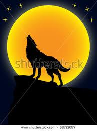 wolf moon vector stock vector 68729377