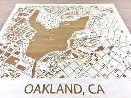 Lake Merritt Map Oakland California Lake Merritt Map Etched Atlas Best