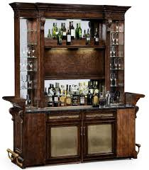 Home Bar Furniture by Home Bar Oak Wood Granite Top With Brass Rail And Canopy