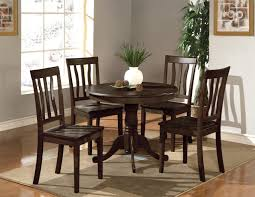 White Kitchen Set Furniture Braden Birch Round Dining Kitchen Table Black Brown 7 Clean
