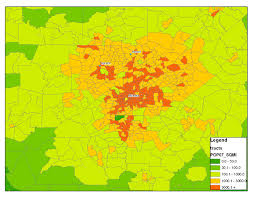 Map Dallas Density Dallas Houston Or Atlanta Map Bigger Better People