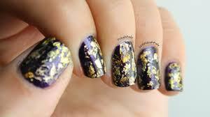 polish pals gold foil nails