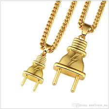 necklace pendant gift box images Wholesale plug pendant necklace pendants hip hop gold color for jpg