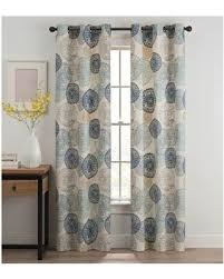 Curtain Pair Savings On Medallion 95 Inch Grommet Top Window Curtain