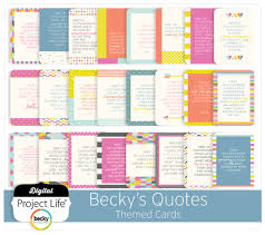 themed quotes digital project becky s quotes themed scrapbook cards
