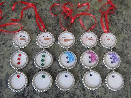 bottle cap ornaments the yule log 365