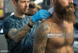 the london international tattoo convention stock photos and