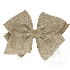 wee ones hair bows accessories hair bows soft burlap hair bow with