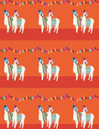 llama wrapping paper seltzer goods sassy green greeting cards notebooks and wrapping