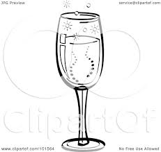 champagne clipart royalty free rf clipart illustration of a black and white glass