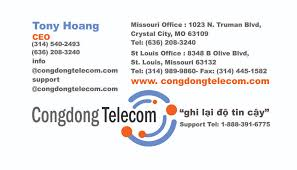 Business Card For Ceo Lv Designs Llc Business Card For Cong Dong Telecom