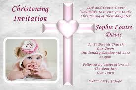 Personalised Christening Invitation Cards Personalised Girls Christening Baptism Photo Invitations Free