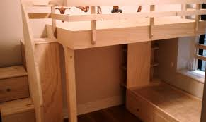 Captains Bunk Beds Crafted Loft Bed Captains Bed With Drawered Steps