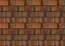 bookcase old books wall mural decor photo wallpaper