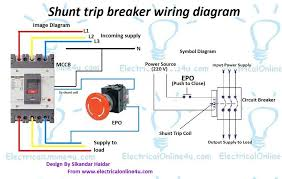 shunt trip breaker wiring diagram shunt wiring diagrams instruction