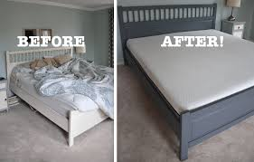 Paint Metal Bed Frame An Honest Lull Mattress Review And A Painted Ikea Bed Makeover