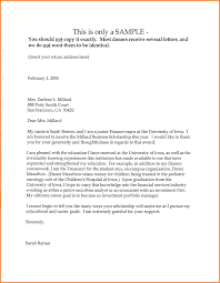 6 sample letter of recommendation for scholarship expense report