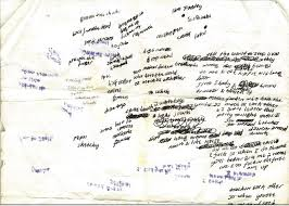 eminem xxl lyrics scraps from eminem s notebook the passion of christopher pierznik