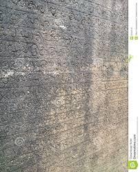 wall writing at ancient city anuradhapuraya stock photo image
