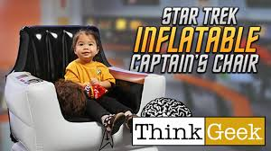 star trek inflatable captain u0027s chair from thinkgeek youtube