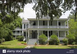 typical house in beaufort south carolina usa stock photo