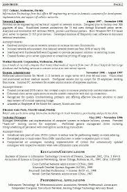 network resume sample network administrator resume example