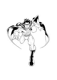 robin running free coloring u2022 kids movies superheros