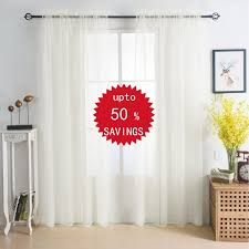 voile curtains for window treatment u2013 ease bedding with style