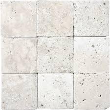4x4 Tile Backsplash by Shop 9 Pack Chiaro Tumbled Marble Natural Stone Wall Tile Common