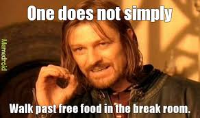 Free Food Meme - eating a free cupcake as i write this meme by sammie b memedroid