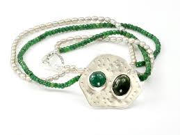 emerald pearl necklace images Juicy amazon emerald pearl necklace with jade and prase jpg