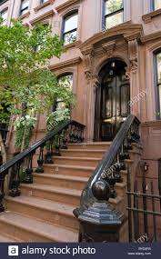 town houses on perry street in greenwich village new york city