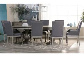 pedestal dining room sets caira extension pedestal dining table living spaces