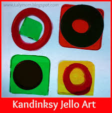 kandinsky for kids jello art project