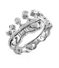 Claddagh Wedding Ring by Claddagh Ring Ladies 14k White Gold Claddagh With Diamonds Irish