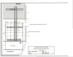 dance floor plan theater for the new city the community space theater