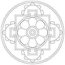 simple tibetan mandala coloring free printable coloring pages
