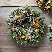 citrus fruit wreath williams sonoma