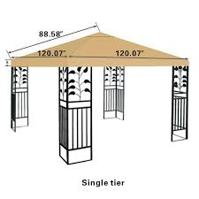 Patio Gazebos by Amazon Com Strong Camel Replacement 10 U0027x10 U0027gazebo Canopy Top