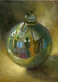 silver ornament original painting by groat ii