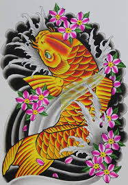 yellow flower tattoos 30 koi fish tattoo designs with meanings