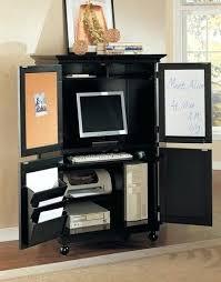 Hide Away Computer Desk Hideaway Computer Cabinet Oak Computer Cabinet Cupboard Storage